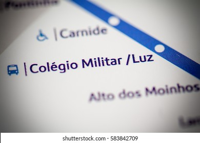 Colegio Militar Luz Station. Lisbon Metro map.