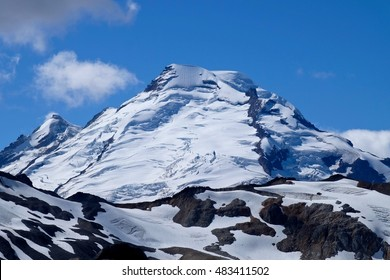 Coleman glacier on top of Mount Baker in Cascade Mountains. Mount Baker National Forest. Bellingham. Washington. USA.