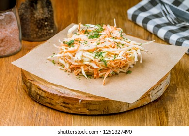 coleslaw salad with cabbage and carrots