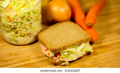 Coleslaw Sandwich burger