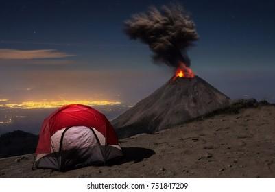 Colima Fire Vulcano