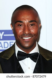 Colin Jackson arriving for the Sony Radio Academy Awards, Grosvenor House Hotel on 09/05/2011  Picture by: Simon Burchell / Featureflash