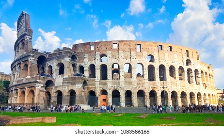 The Coliseum in Rome, the Flavian Amphitheatre, Italy