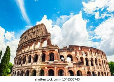 Coliseum in Rome, Italy. Famous tourist landmark