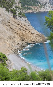 Coll baix beach in mallorca. lovely place in the summer