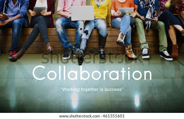 Collaboration Colleagues Cooperation Teamwork Concept