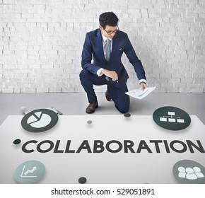 Collaboration Creative Process Marketing Strategy Concept