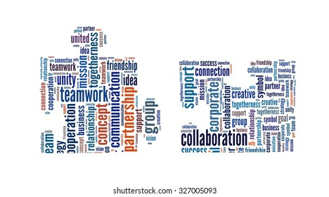 Collaboration in word collage