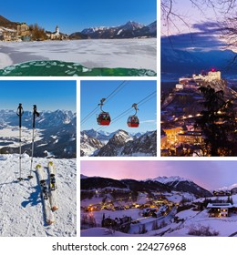 Collage of Austria images - nature and sport background (my photos)