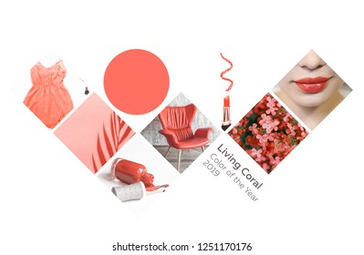 Collage Color of the year 2019 Living Coral Livingcoral