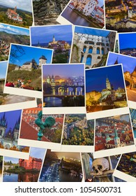 Collage of Czech republic images (my photos) - travel and architecture background
