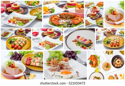 collage of different delicious food