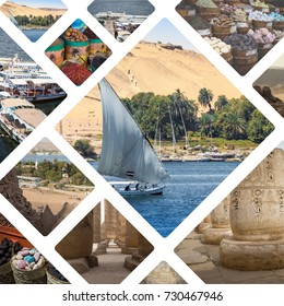 Collage of Egipt images - travel background (my photos)