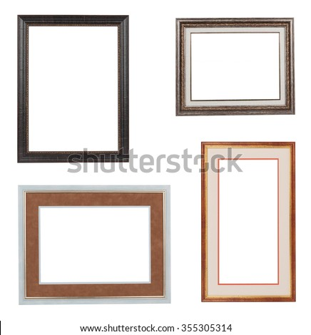 Collage Frames Isolated On White Stock Photo (Edit Now) 355305314 ...