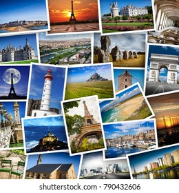 collage of French images on white background