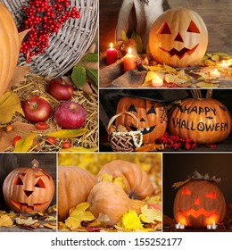 Collage of Halloween