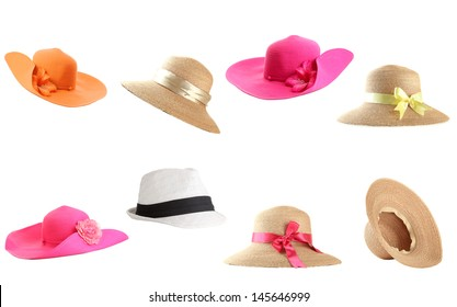 Collage of hats