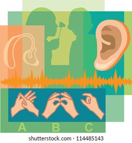 Collage of hearing loss