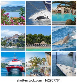 Collage of holiday images, Greece