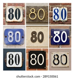 Collage of House Numbers Eighty