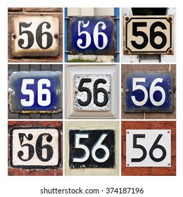 Collage of House Numbers Fifty-six