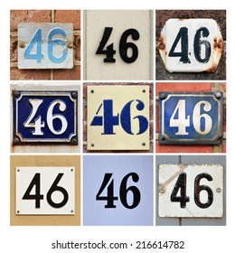 Collage of House Numbers Forty-six