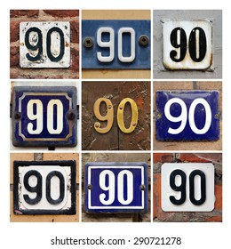 Collage of House Numbers Ninety