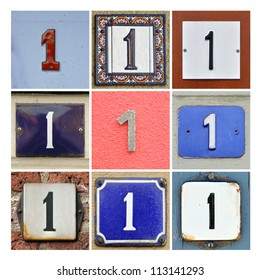 Collage of House Numbers One