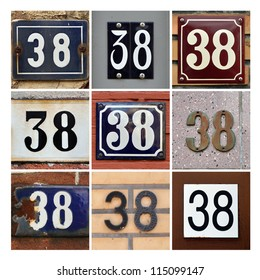 Collage of House Numbers Thirty-eight