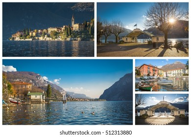 Collage images of Como Lake