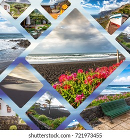 Collage of the images of fantastic Tenerife island