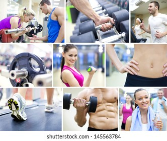 collage of images healthy lifestyle