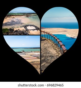 Collage of island Lanzarote, Spain