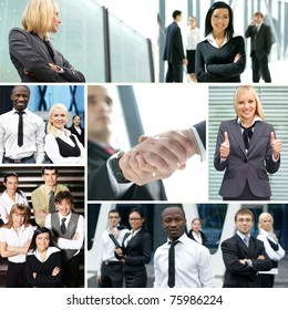 Collage made of some business pictures