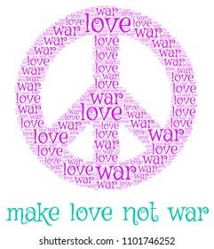 collage - make peace not war