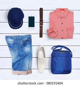 collage of men's clothing