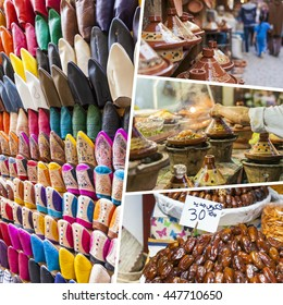 Collage of Morocco images - travel background (my photos)