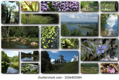 collage of northern photos
