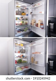 collage. Order and disorder in the refrigerator.