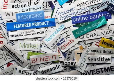 collage of paper headlines about the world economy