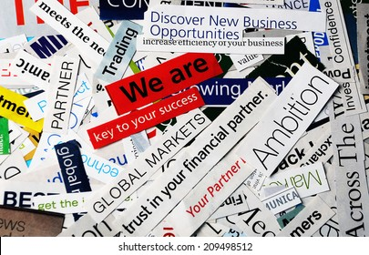 collage of paper headlines -we are key to your success