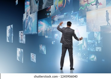 Collage of photos with businessman - Shutterstock ID 1245906040