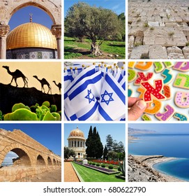 Collage photos of Israel