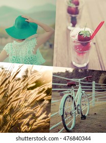 Collage Picture Of  Women Life Style