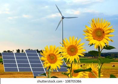 Collage renewable energies