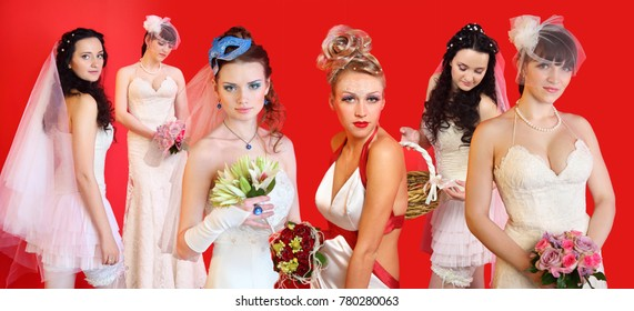 Bridal Hairstyle For Short Hair Short Hair Styles Images Stock