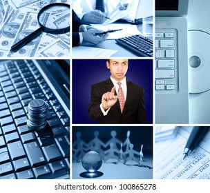 Collage of technology in business
