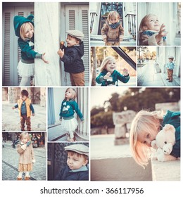 collage of ten photos of children