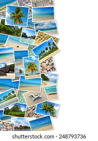 Collage of Thailand travel images with empty area for text