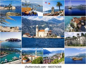 collage tourist attractions Montenegro